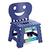 ACSTEP Folding Step Stool with Smile Back Support