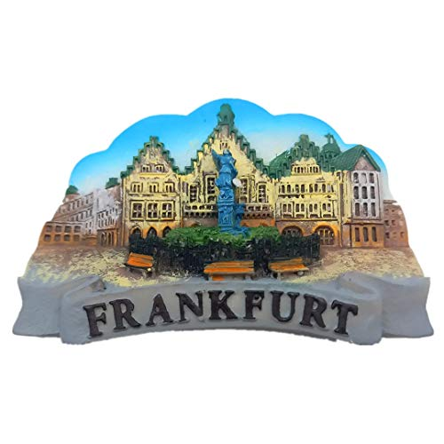 Frankfurt Germany Resin 3D Refrigerator Fridge Magnet Travel City Souvenir Collection Handmade Craft White Board Refrigerator Sticker]()