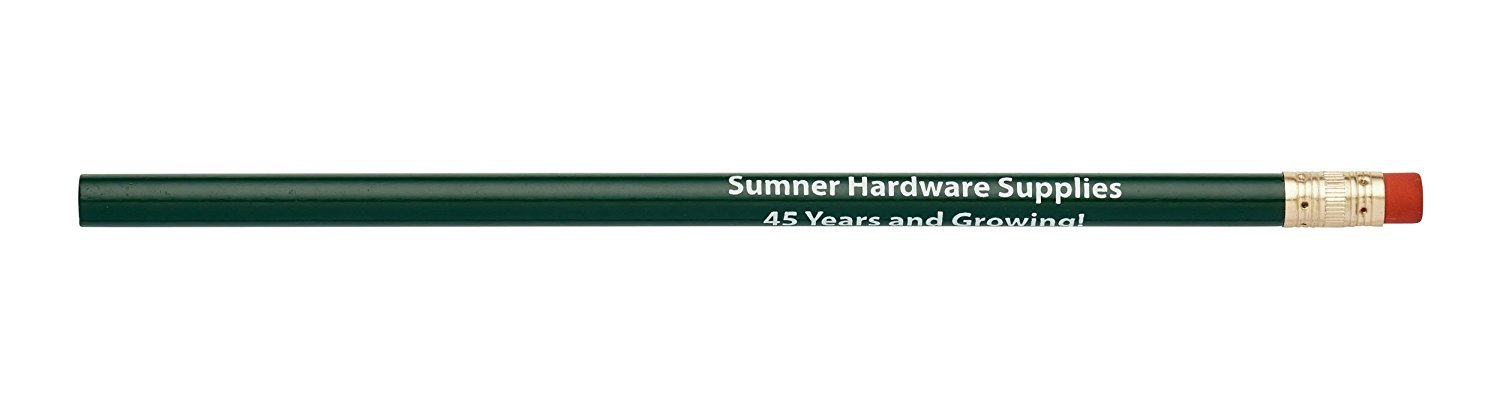 Pencil Guy Promotional Personalized Imprinted Round Pencils.-1000 per Box Dark Green