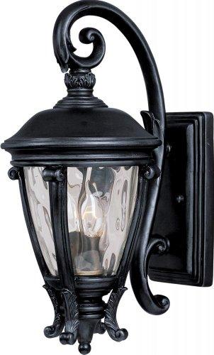 Two Light Black Water Glass Glass Wall Lantern 41424WGBK