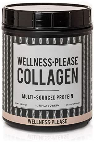 Quality Multi-Collagen Peptide Protein Powder – (1lb) | Hydrolyzed | Gluten Free | Unflavored, Odorless, Water Soluble | Two Types of Bone Broth | Beneficial To Gut, Joints, Skin, + Metabolism.