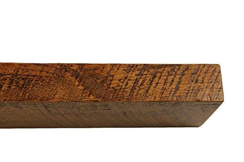 30'' W X 7'' D X 3'' H, Rustic Floating Wood Mantel, Shelf, Antique, Wooden, Shelves, Industrial by Joel's Antiques & Reclaimed Decor (Image #6)