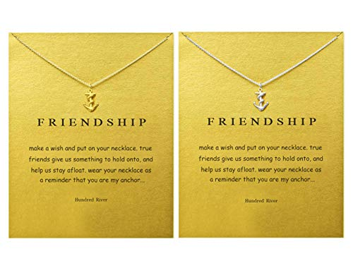 Hundred River Anchor Pendant Friendship Necklace(2 -