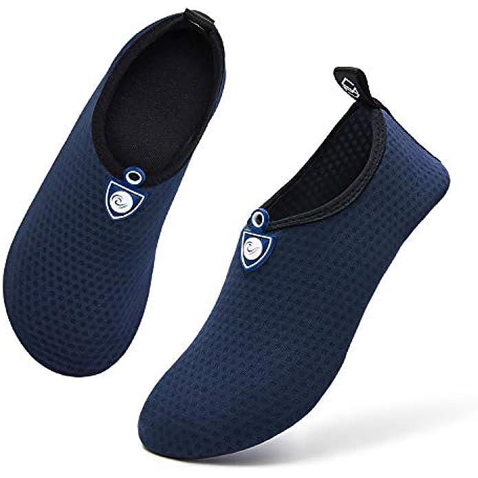 mysoft Women Men Water Shoes Barefoot Sports Aqua Yoga Socks for Beach Swim