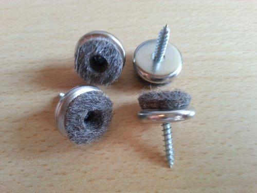 Filzgleiter 16 St/ück Filz-M/öbelgleiter aus Eisen /Ø 18 mm mit Schraube