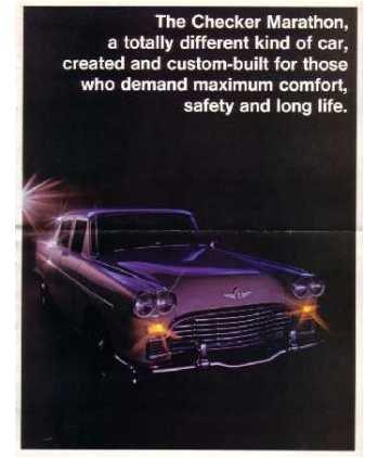 1968 Checker Marathon Sales Brochure Literature Book Piece Advertisement Options