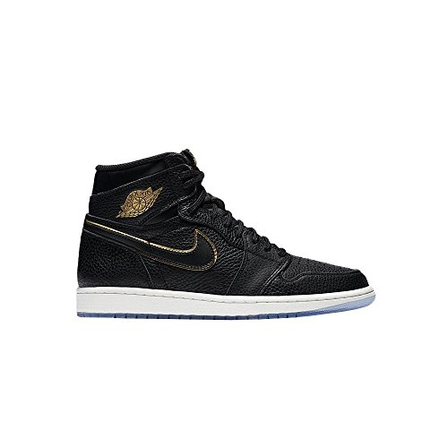 Nike Boys Air Jordan 1 Retro High OG BG Black/Metallic Gold
