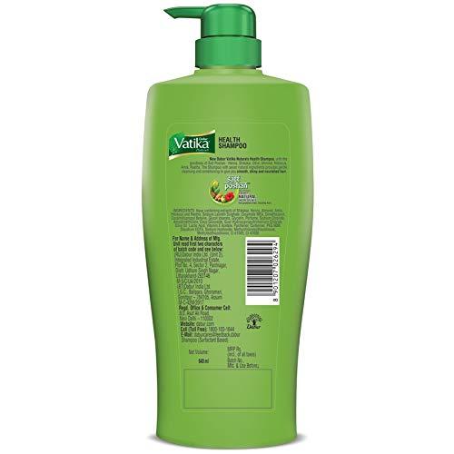 Dabur Vatika Health Shampoo - Power of 7 Natural Ingredients - 640 ml