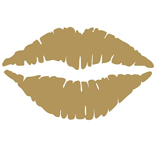 Homes Gold Seal (Kiss Wall Decal Sticker - Kissing Lips Decoration Mural - Decal Stickers and Mural for Kids Boys Girls Room and Bedroom. Kiss Gold Wall Art for Home Decor and Decoration - Silhouette Mural)