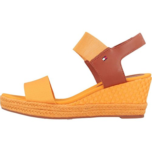 Compensées Sandal Elba Color Femmes Iconic Tommy Hilfiger Pop Orange qZR0P