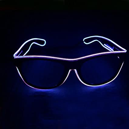 Fashion Flashing El Wire Glasses Light Up Glowing Halloween Party Rave Costume Apparel Accessories