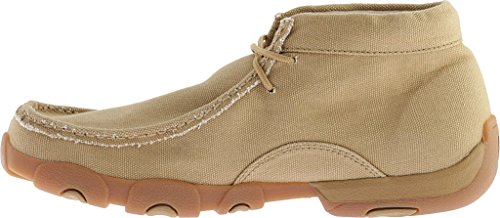 MDM0051 Driving Canvas Men's Moc Boots Khaki Twisted X qZ8xtnP