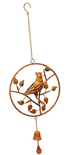 Bird Wind Chime Bell Large Metal Hanging Outdoor Indoor Home Decor Branches (Bell Trading Post)