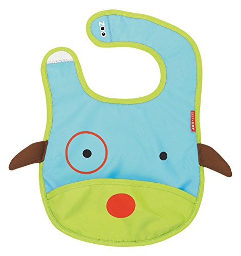 Price comparison product image Skip Hop Zoo Little Kid and Toddler Tuck-Away Water Resistant Baby Bib,  Multi Darby Dog