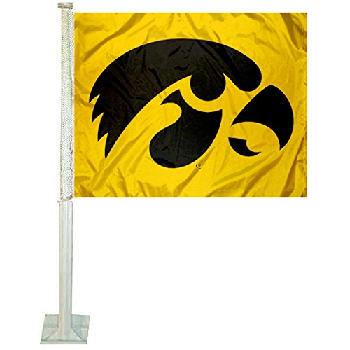 - College Flags and Banners Co. Iowa Hawkeyes Car Flag