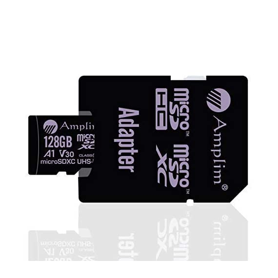 Amplim 64GB 128GB 32GB Micro SD Card Plus Adapter Pack MicroSD SDXC Class 10 U3 A1 V30 Extreme Pro Speed 100MB/s UHS-I UHS-1 TF MicroSDXC Memory Card for Cell Phone, Nintendo, Galaxy, Fire, Gopro 4 COMPATIBILE with all new 2016-2018 class10 high capacity micro SDXC or SD (Secure Digital) compatible phones such as Samsung Galaxy S9 S8 S7 Note 9 Note 8 Note 7, Sony Xperia, LG G7 V40, Nokia, Motorola Moto, USB readers, Nintendo Switch, Amazon Kindle Fire, Gopro, Microsoft Surface, PC, Mac, portable computers, drones, action cameras. COMPATIBILITY: Samsung Galaxy J8 J6 A9 A6 A6+ J7 Star Prime 2 S9 S9+ J2 Note 9 8 Tab S4 S3 J3 Book S8+ Plus S8 Active J7 V S7 Edge S7 Tab E Tab A (2018) S6; LG K30 G7 Q7 Q Stylus V40 V35 THINQ Zone 4 V30S K10 V30 V20 G6 K20 V Stylo 2 V Stylo 4 3 X Venture Charge Power G Pad F2 8.0 Pad X II; Sony Xperia XZ2 Premium Compact L2 XA2 Ultra Plus XZ1 L1 XZ; Nokia 7.1; Amazon Fire 7 Fire HD 8 Fire HD 10 and Kids edition. COMPATIBILITY Continued: Microsoft Surface 2 3 4 Pro LTE Surface Book Studio; Motorola Moto G6 G5 E5 E4 Play Plus X4 G5S Z2 Force Edition; HTC U12+ Desire 12 12+ U11 EYEs life U11+ Desire 555 One X10 Bolt; Huawei Y7 Prime Y6 Y3 Mate RS P20 10 Pro Lite MediaPad M5 M3 8 10 P Smart P9 lite MateBook Nova 2. Work with Verizon, AT&T, Sprint, T-Mobile, US Cellular, Unlocked and other carriers. Amazon Prime fast free shipping.