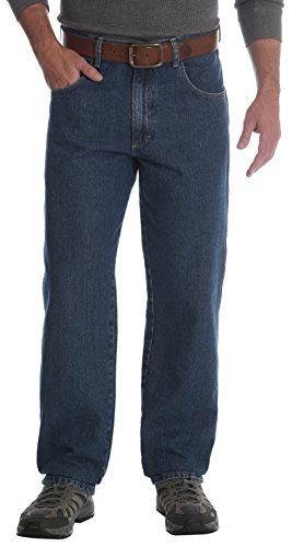 Wrangler Men's Rugged Wear Jean, Medium Wash, 44W x 32L (Wrangler Jeans Men)