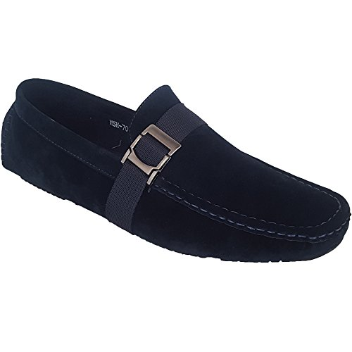 Slip Formal New Suede Navy Look Driving Mens Classique Moccasins Wedding Boat 7024 On Loafers Shoes 0PAa7x