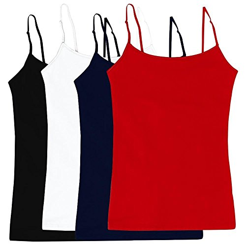 Women's Camisole Built-in Shelf Bra Adjustable Spaghetti Str