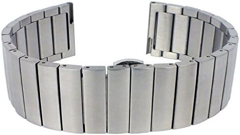 Minott Ersatzband glänzend aus Leder in weiß mit Easy Click Federstegen /> 33113