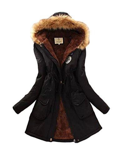 Gran tamaño Ocio Casual abrigo las mujeres de Black 4XL
