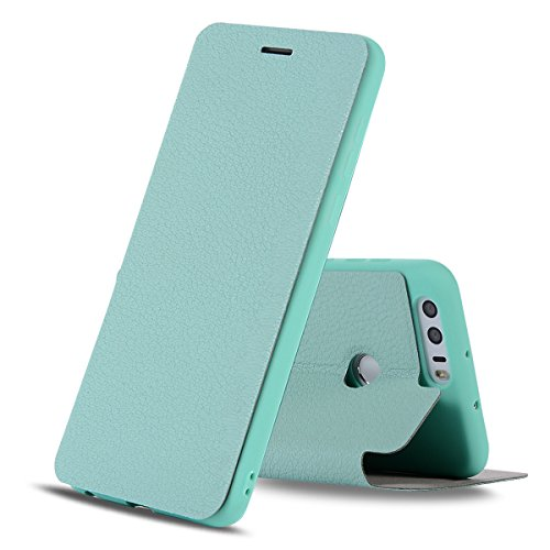 393 Mint (TOTOOSE Huawei Honor 8 Wallet case, Huawei Honor 8 Flip case, Classy Slim Leather Wallet, ID Credit Card Slot Holder for Huawei Honor 8 - Mint Green)