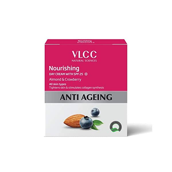 VLCC Anti Aging Day Cream SPF 25, 50g 2021 August Stimulates collagen synthesis Tightens the skin Suitable for all skin types