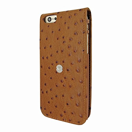 Piel Frama 689 Tan Ostrich Magnetic Leather Case for Apple iPhone 6 Plus / 6S Plus by Piel Frama (Image #2)