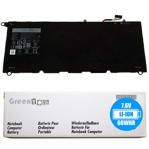 New PW23Y battery for Dell XPS 13 9360, XPS (9360) - GreenTech 7.6V 60Whr Primary Battery 0RNP72 TP1GT by GreenTechLLC