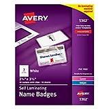 Avery Self-Laminating Name Badges, 2-1/4'' x 3-1/2'', Box of 30 (5362)