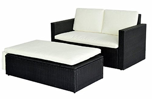 MCombo Outdoor Patio Wicker Chaise Lounge Chair Furniture Set Sofa Chairs W Ottoman Daybed 6089-0210 (Patio Furniture Bed)