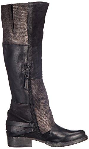 Mjus Damen 185617-0201-6002 Biker Boots Schwarz (Nero)