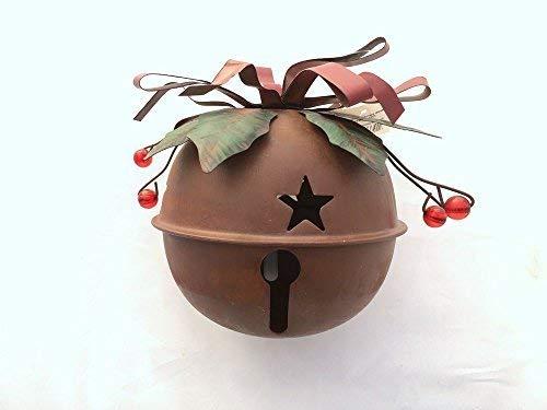 Metal Rustic Red Holiday Jingle Bell Christmas Decor Christmas Tree Decor (Small)