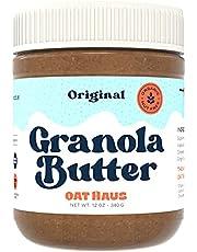 Oat Haus Organic Granola Butter   Peanut-free, Almond (Tree-Nut) Free, & School-Safe (Top 8 Allergen Free)   Sunflower Seed & Cookie Butter Alternative   12 oz (1 Jar)