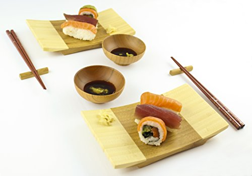 Zoie   Chloe 100  Natural Bamboo Sushi Gift Set For Two