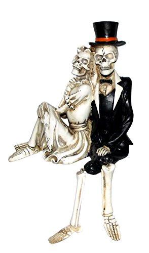 Skeleton Couple Shelf Sitter Home Decoration Figure (Shelf Skeleton Sitter)