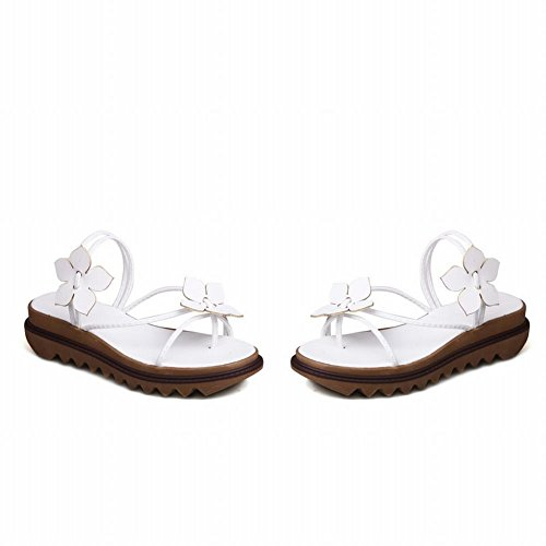 Kinderwagen Womens Applique Toevallige Flip-flops Sandalen Teenslippers Pantoffels Wit