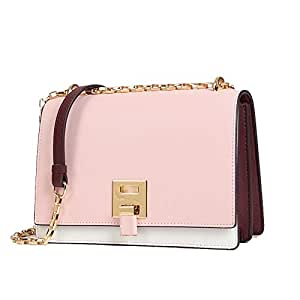 Runhuayou New Retro Effortless Fashion Bills Shoulder Slung Belittled Handbag Female Cowhide Bag Great for Casual or Many Other Occasions Such (Color : Pink)