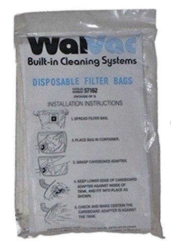 WalVac Bag 57162 Built in Central Vacuum System Vacuum Bag - WalVac OEM Bags - WalVac 10 Gallon 57162 Vacuum Bags