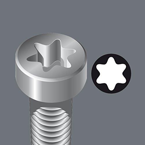 Wera 05073599001 967 Spkl/9 Torx Bo Multicolor L-Key Set for Tamper-Proof Torx Screws, Blacklaser, 9 Pieces by Wera (Image #5)