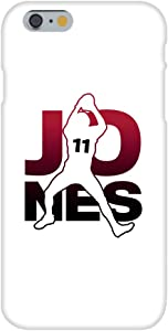 Hat Shark Football Sports Athletic Player - Customized Snap on Phone Case Compatible with iPhone 7 Plus (Jones #11)