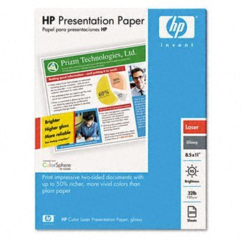 HP® Glossy Color Laser Presentation Paper PAPER,LSR,GLSSY,11X17,250 (Pack of3) by HEW-IS