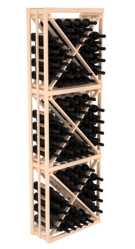 Wine Racks America Ponderosa Pine Full Height Diamond Bin Kit. 13 Stains to Choose ()