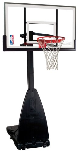 "Spalding NBA Portable Basketball System - 54"" Glass Backboard"