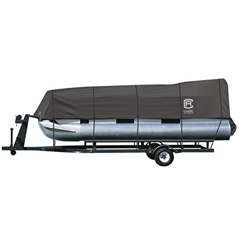 Classic Accessories StormPro Heavy Duty Pontoon Boat Cover, Charcoal, Fits 21′ – 24′ L x 102″ W