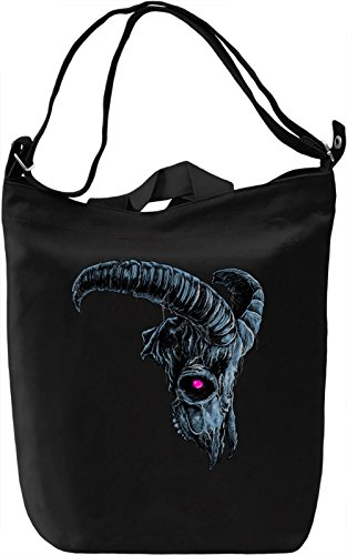 Goat skull Borsa Giornaliera Canvas Canvas Day Bag| 100% Premium Cotton Canvas| DTG Printing|