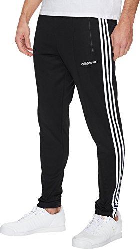 adidas Originals  Men's Beckenbauer Open Hem Track Pants Black/White (Open Track)