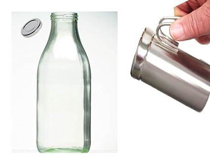 Jarra de leche para hacer espuma de leche, acero inoxidable, para 400 ml +