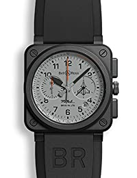 Bell & Ross Men's Limited Edition Rafale French Fighter Jet Watch BR0394-RAFALE-CE