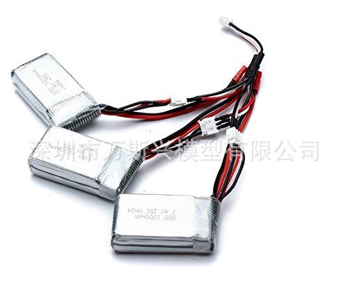 UUMART MJX X600 7.4V 1000mah Lipo Battery For Wltoys V912 V915 Quadcopter Replacement